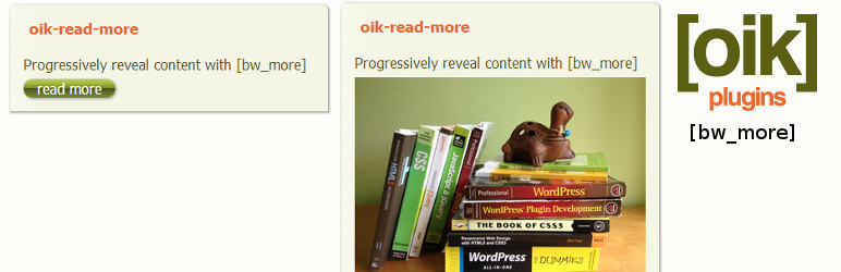 oik-read-more – progressively reveal content