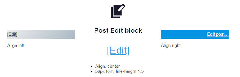 SB Post Edit block